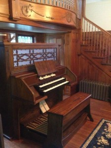 1935 Wicks Three Rank Aristocrat Opus 1311 at Repristinated Console and CaseworkPrivate Residence, Oak Park, IL