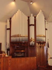 1901 Hinners and Albertsen Opus 458 at First Presbyterian Church, Knoxville, IL