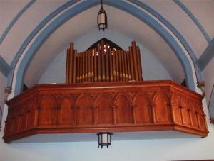 Hinners Organ, c. 1900 at St. Mary's Catholic Church, Kickapoo, Illinois