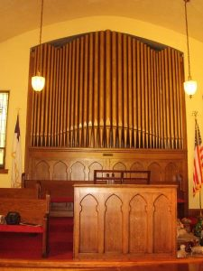 1918 Reuter-Schwarz Opus 8 at United Methodist Church, Westfield, IL